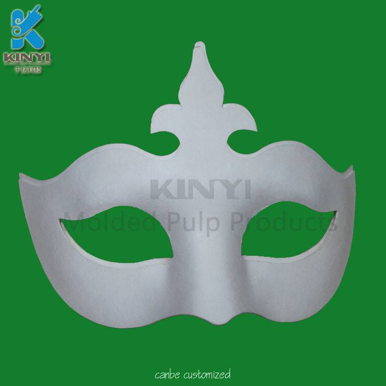 DIY colored paper pulp molding charming mask,environmental friendly