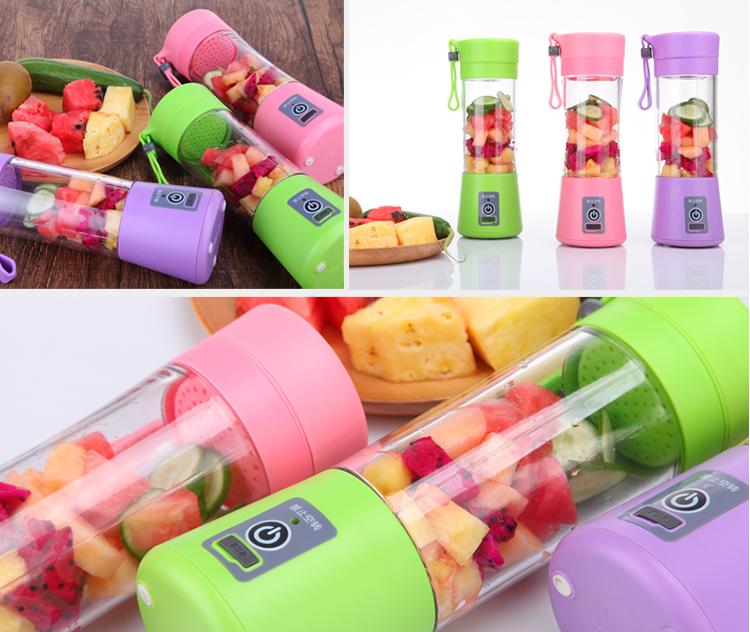 Wholesale Automatic Fruit juicer cup 380ML/rechargeable blender machine