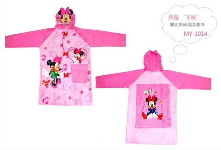 warter-proof cartoon Children raincoat
