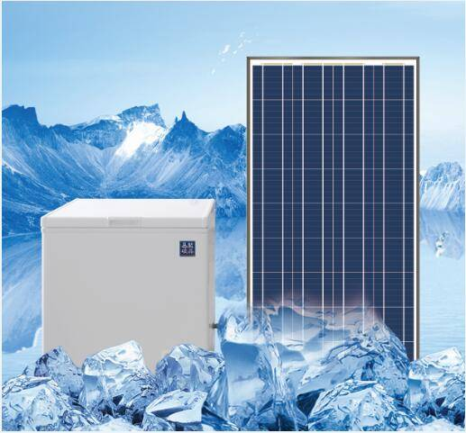 159Liter solar freezer with panel and battery