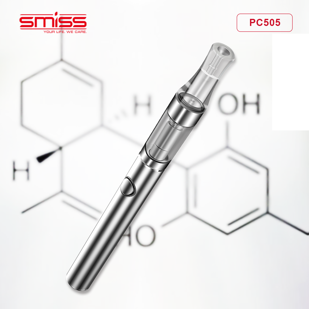 2018 Smiss Newest PC505 Pure Ceramic 510 Thread Cartridge CBD Cartridge With Stainless Steel