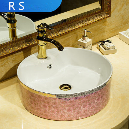 moroccan gold basin ceramic dubai bathroom basin