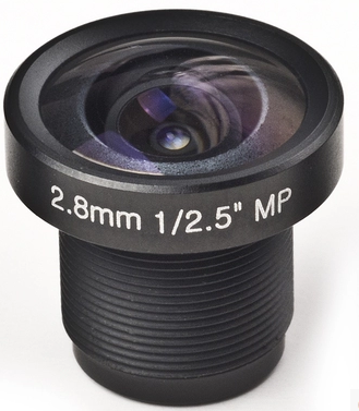 "3.0 Megapixel M12 lenses 2.8mm 1/2.5"" F2.0"