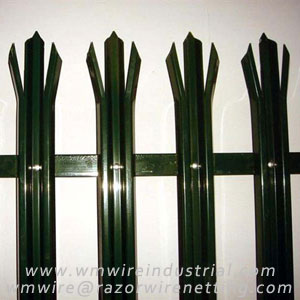 Steel palisade fence --- WM Wire Industrial