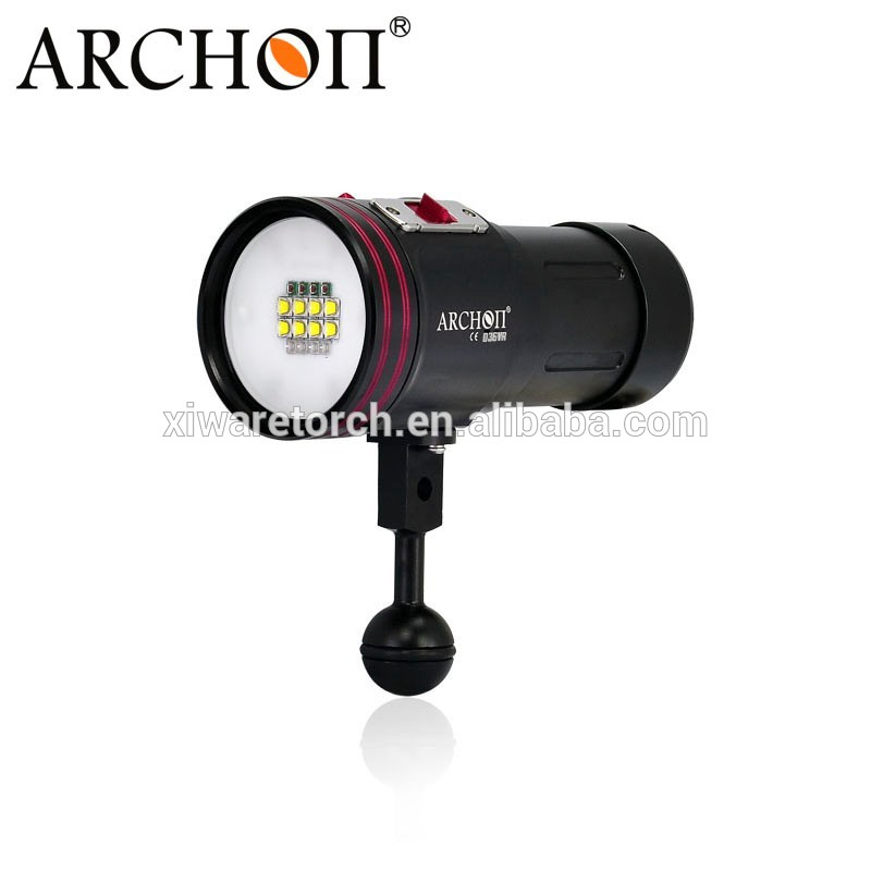 10 years professional manufacturer Archon XM-L2 U2 Diving Underwater Video LED Flashlight+Ball Arm