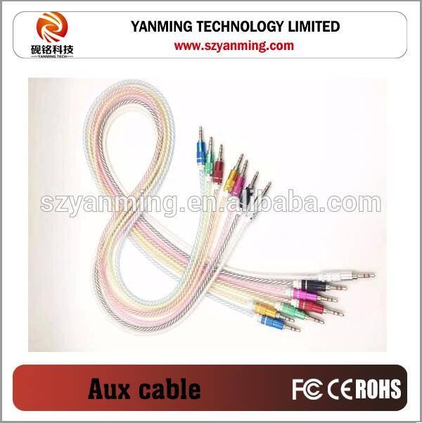 Cheap selling Copper Material Candy Color Crystal Jelly Audio Cable for Mobile Phone