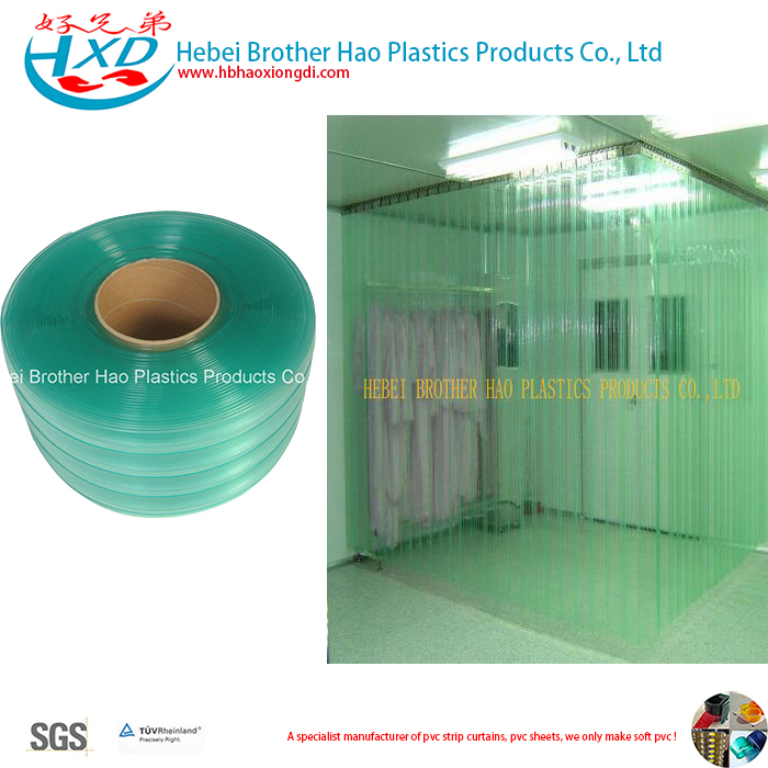 ESD Double Ribbed Green Plastic Vinyl PVC Strip Door Air Curtain