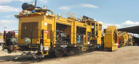 Ballast Cleaning Machine for railway vehicle