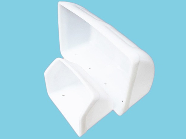 White UHMW-PE Plastic Elevator Buckets Light Weight Customized Size