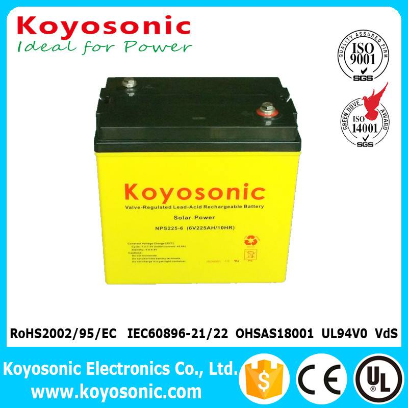 Hot Sale 6V 225AH AGM Battery Deep Cycle Battery For Solar Panel