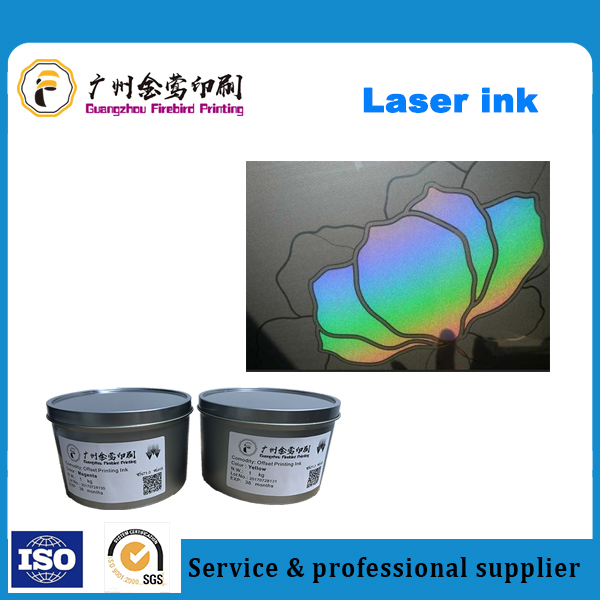 laser ink for printing on smoothy plastic or glass