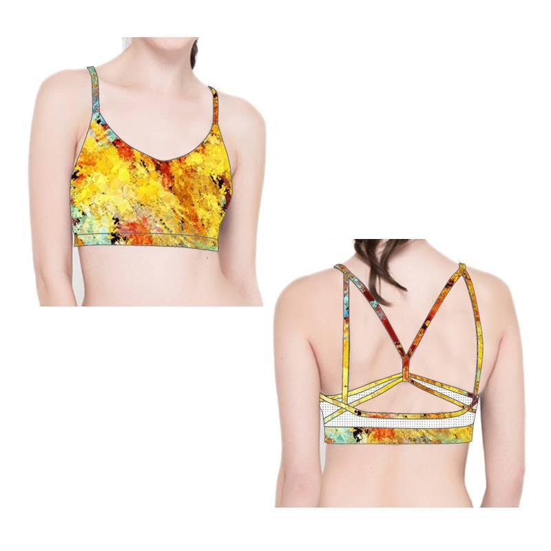 Top Quality Sexy Design Fitness Wear Ladies Fashion Seamless Sports Bra