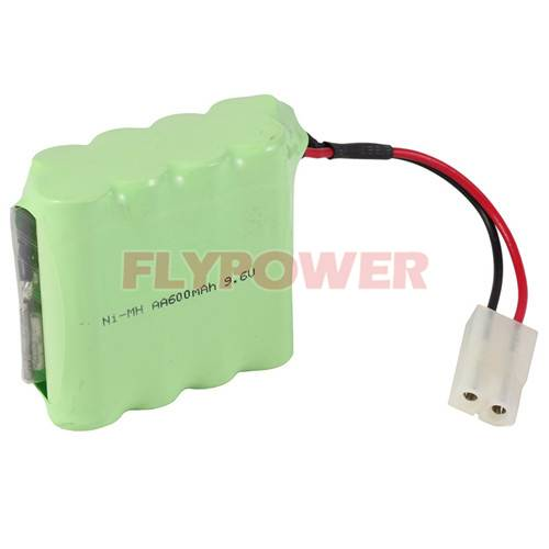 9.6V AA600mAh Ni-MH Rechargeable Battery Pack (8S of FH-AA600)