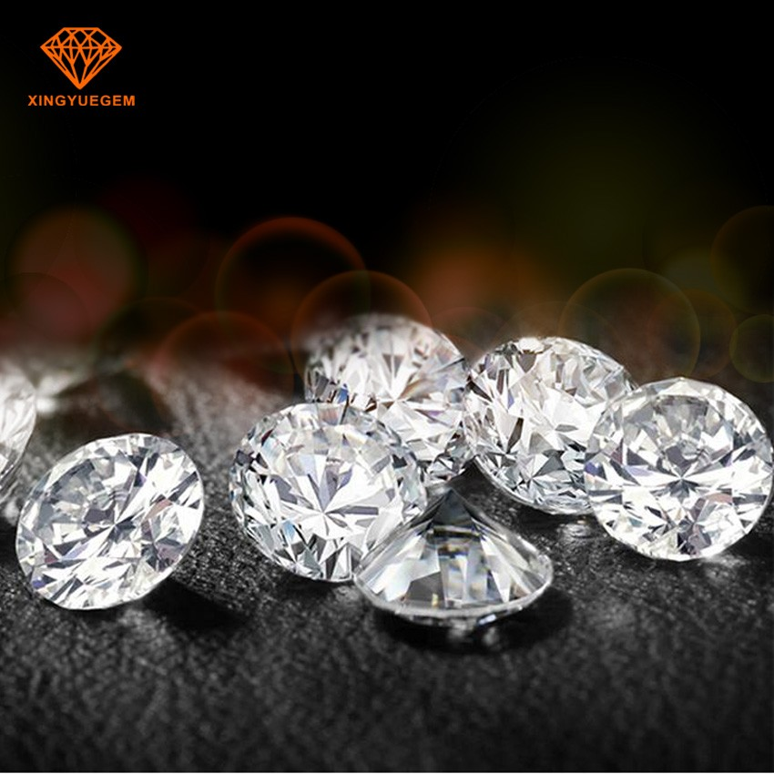 China top quality wholesale DEF super white diamond color moissanite loose gems