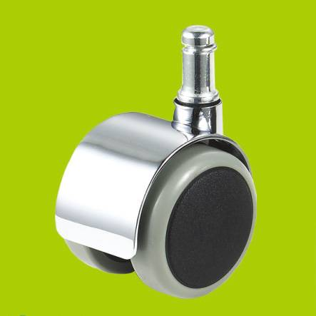 ring stem chrome furniture casters with brake