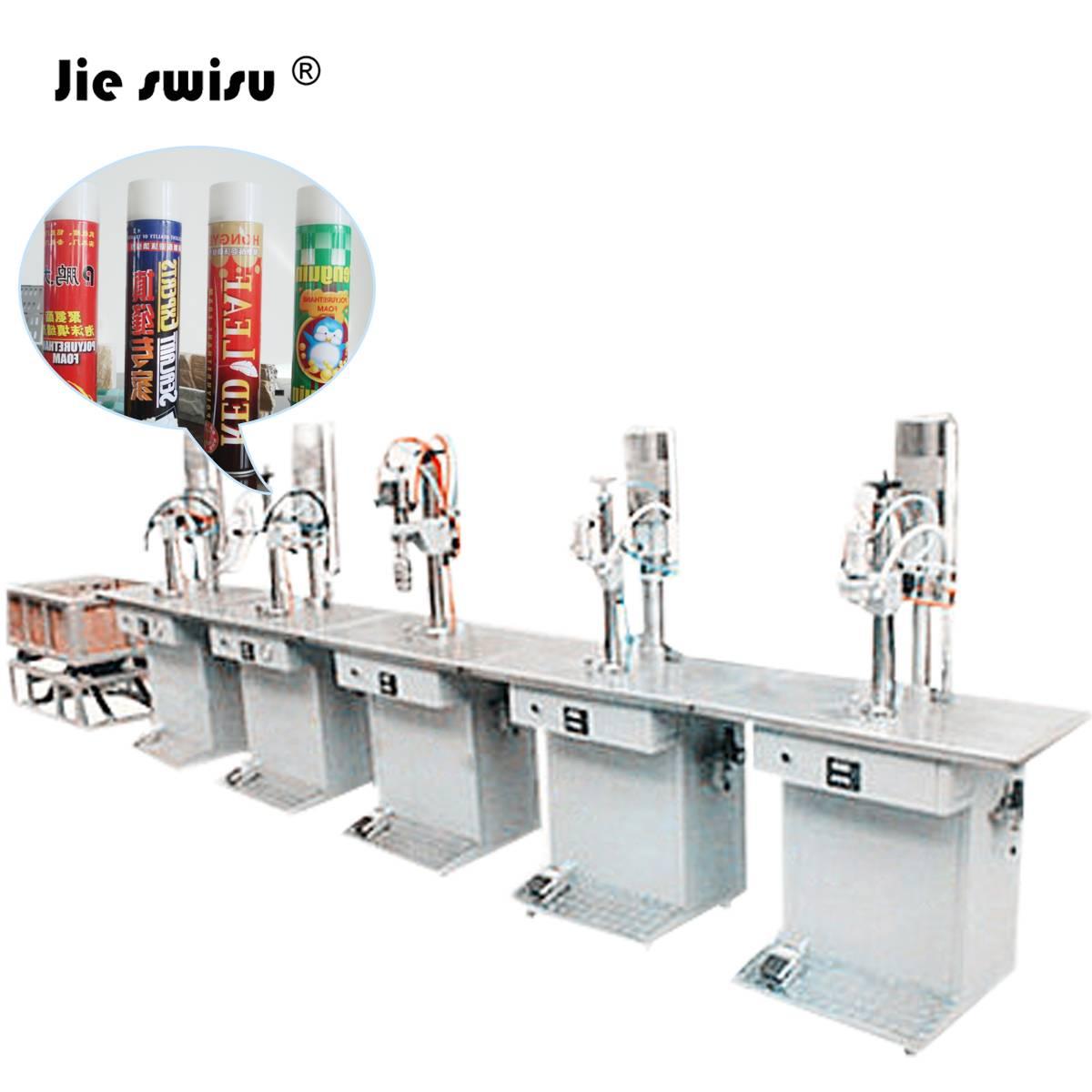 Aerosol Polyurethane Foamed Filling Machine