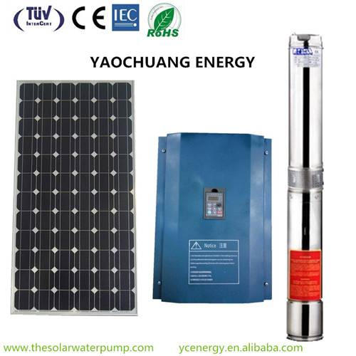 2HP submersible deep well solar water pump system