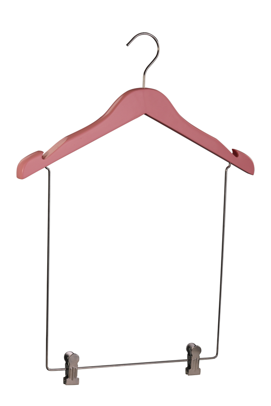 Baby/Kids' display wooden hanger with pant rack for cloths