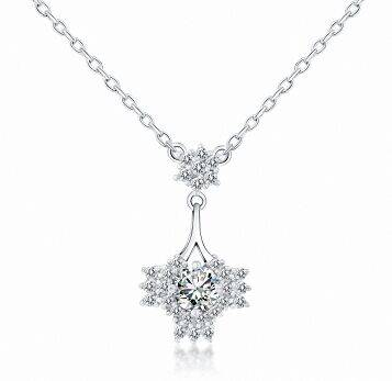 High quality custom Fashion trendy Crystal necklace silver necklace with women