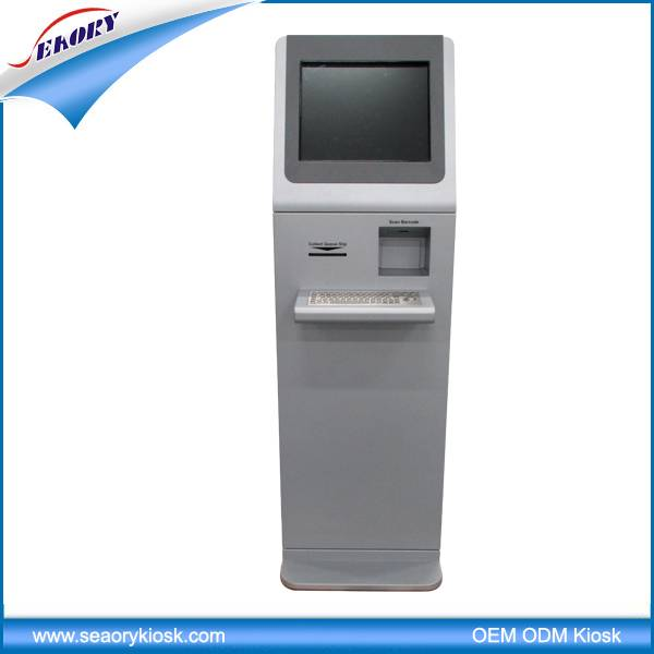 ineractive information kiosk/kiosk machine with thermal printer/payment kiosk