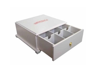 White Wooden Tea Box