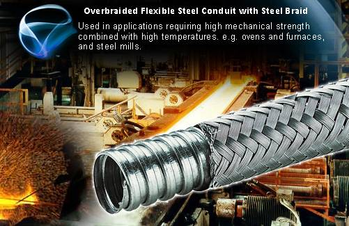 Flexible Conduit System For Mining and iron Industry Wirings