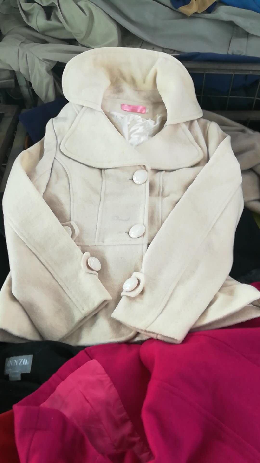 used ladies parka woolen short coat