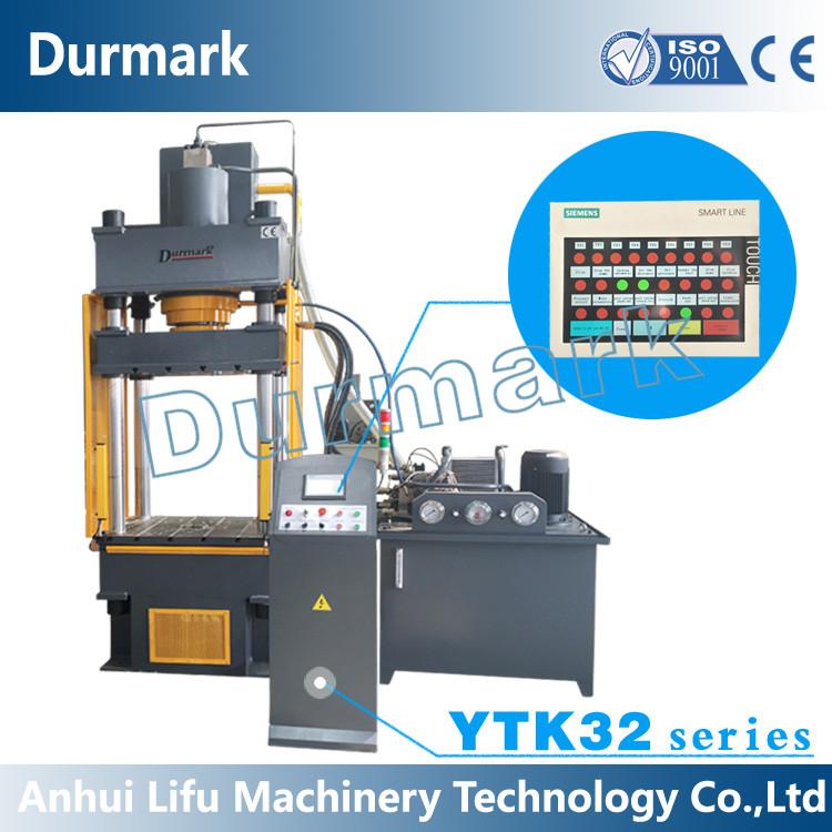 Ytk32-200t Four Column Hydraulic Press Machine 200 Tons for Steel Sheet