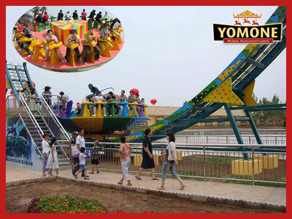 Amusement park rides manufacturers flying UFO outdoor equipment for sale