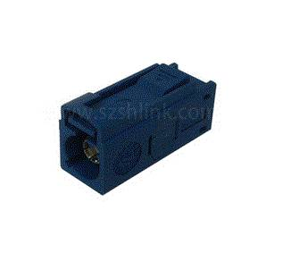 Blue FAKRA automotive Jack Cable Using RG174 Coaxial cable