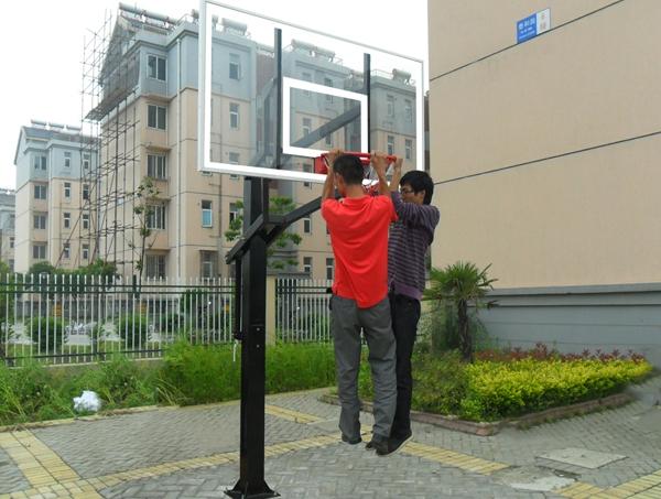 Adjustable Inground Basketball Hoop for Basketball Outdoor and Indoor