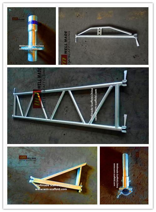 EN 12810 Building Construction Ringlock/Pinlock Scaffolding