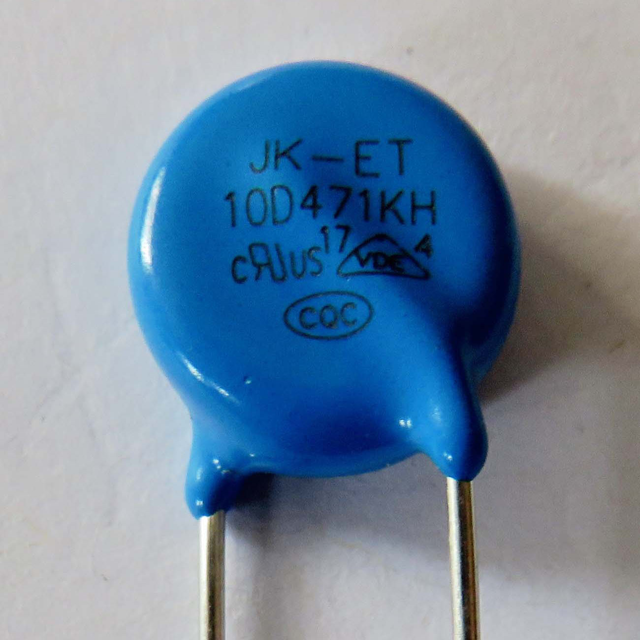 Metal Oxide Varistor for circuit surge protection 470V +-10% tolerance