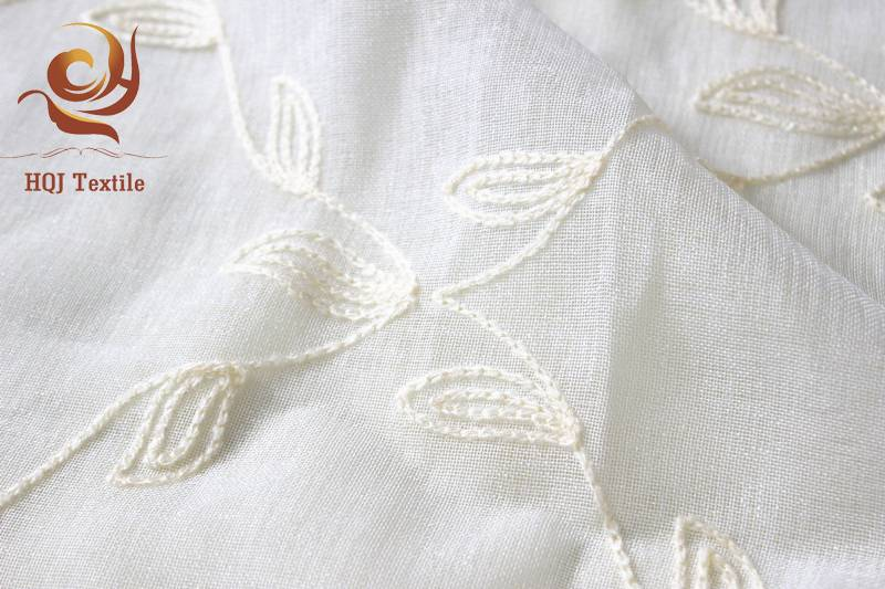 cheap embroidered voile curtain