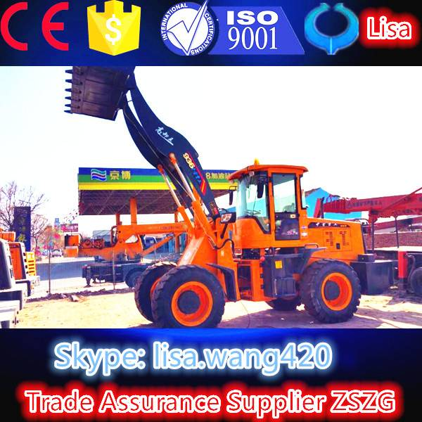 6.powerful high quality 3 ton wheel loader with grass fork attachments