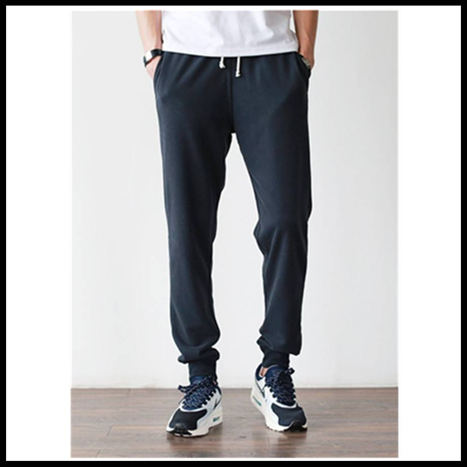 2016 new 100% cotton men fashion tapered jogger pants