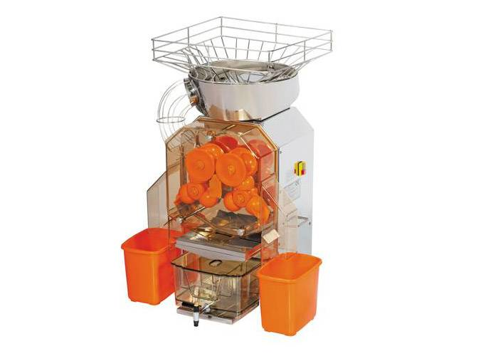 CE Approval Zumex Orange Juicer / Stainless Steel Orange Juicing Machines For Drinks Factory