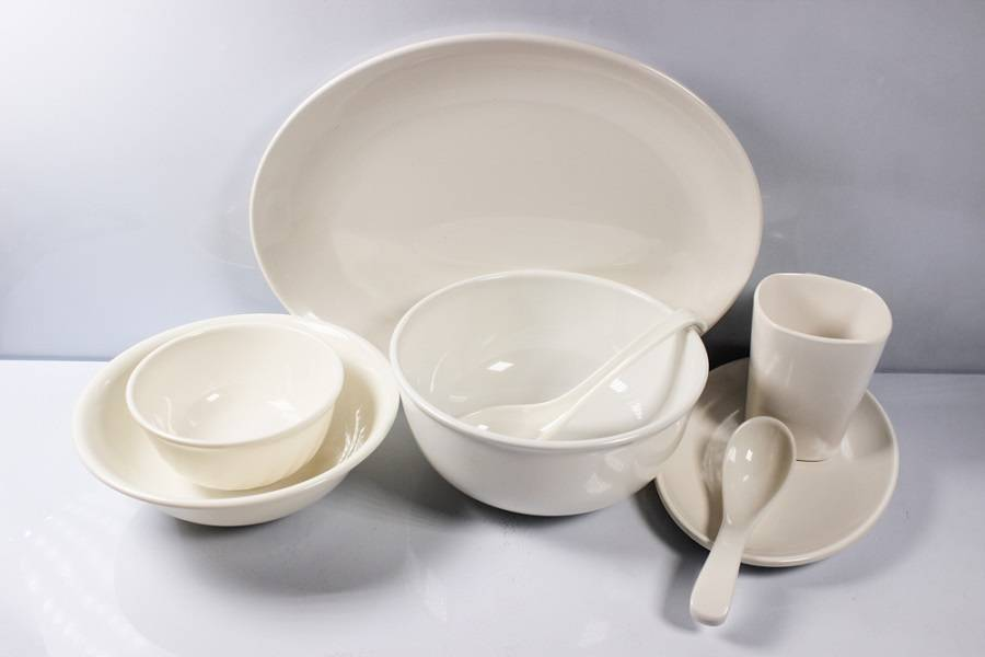 8pcs mixing melamine dinnerware set