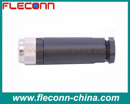 Field Mountable M8 connector Female 4 pin screw terminal Wireable