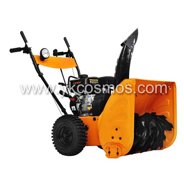 Gasoline Simple Style Two Stage Loncin Engine Snow Blower