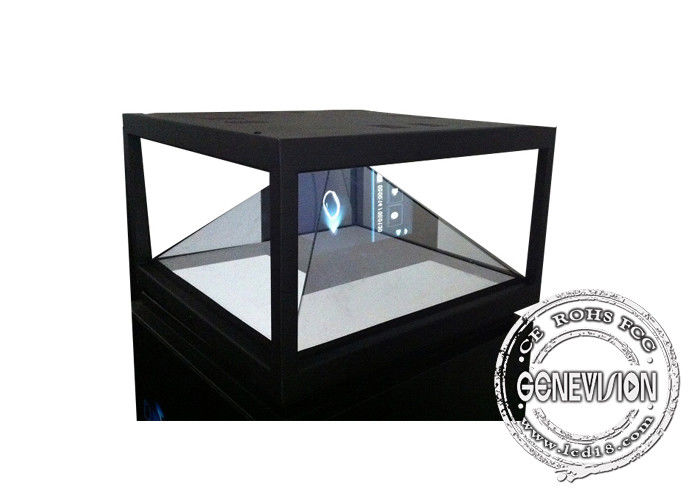 360 Degree 3D Holographic Display Cabinet Plug Play , Advertising Pyramid Hologram