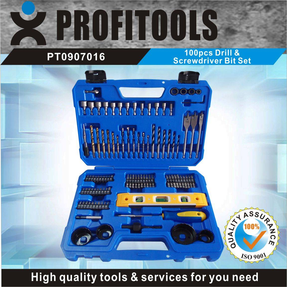 100pcs High Quality Drill and Screwdriver Bit set