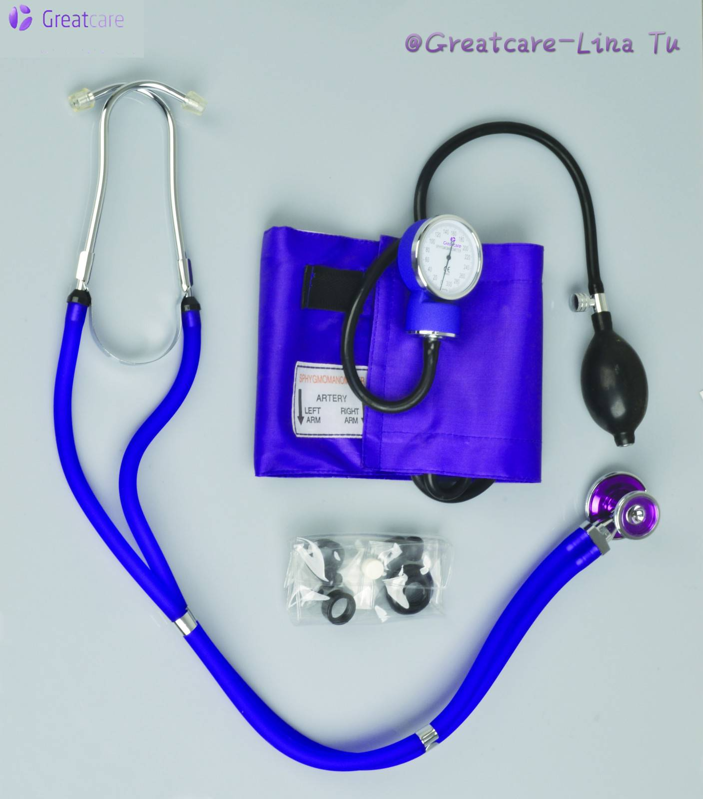 stainless Stethoscope, cardiology stethoscope with single/dual type