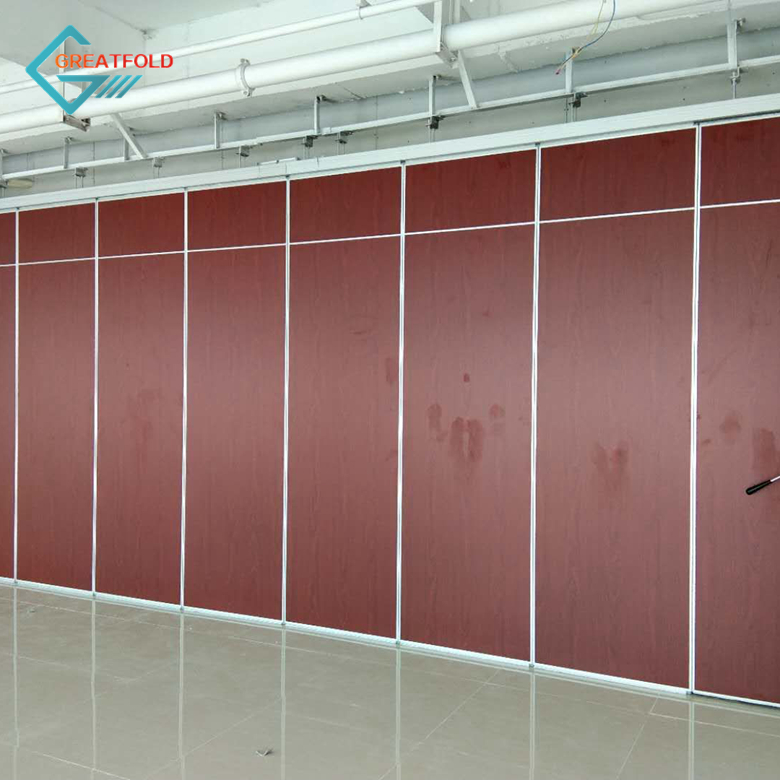 Customized recreation area wood folding partition wall