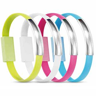 Colorful USB cable New Design Bracelet Data Cable with Charging and Sync for Android Smart Phones