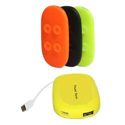 Portable exteranl battery power with suction cups and capacity on 4000mAh