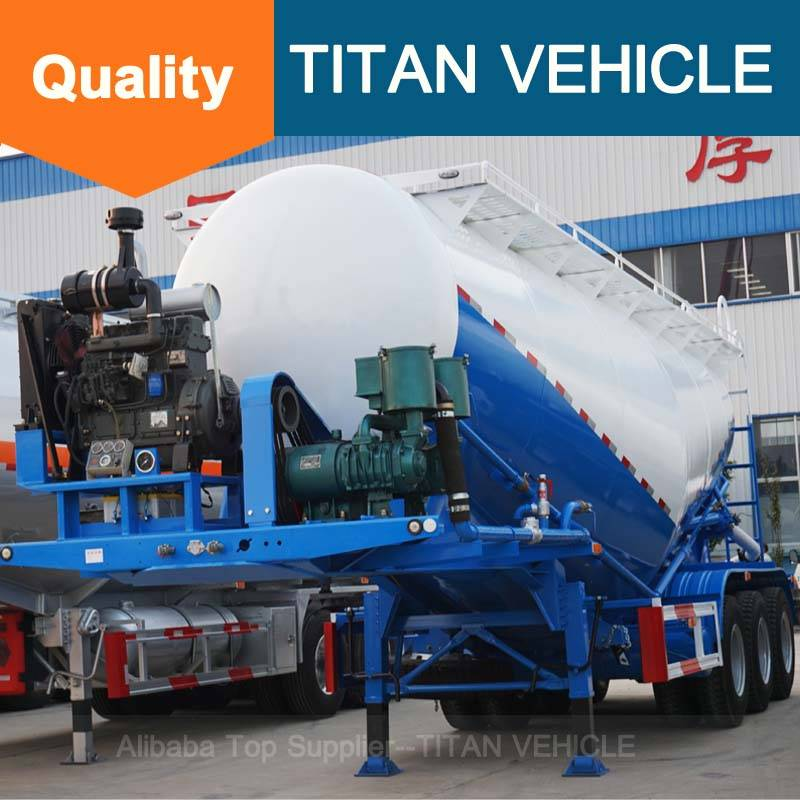 Titan Vehicle 60cbm bulk cement tanker trailer for sale V Type Cement Semi Trailer