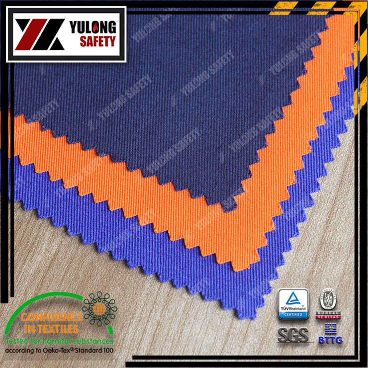 Xinxiang Yulong Textile co.,Ltd 100% cotton FR fabric Fireproof workwear