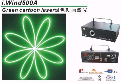 Green cartoon laser