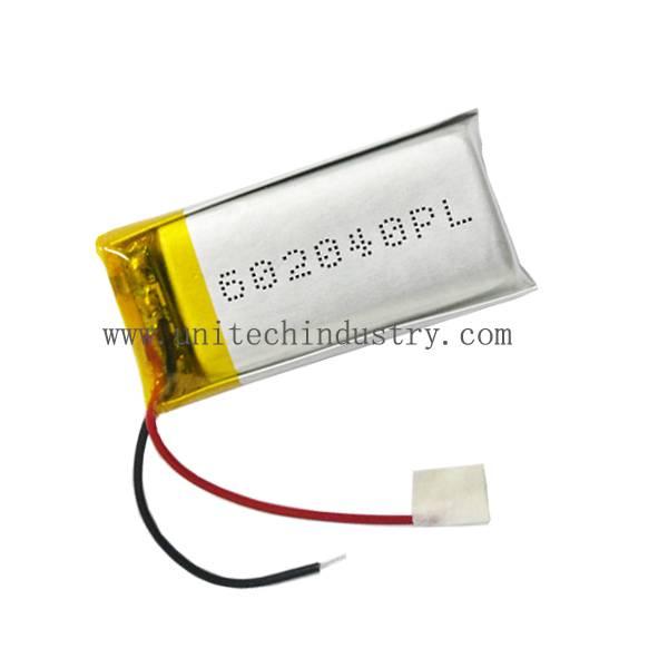 Rechargeable 602040 lipo battery 420mAh China li-polymer battery